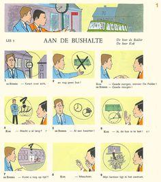 Audiovisuele Methode Nederlands : les 3 - Aan de bushalte [1] - gesprek