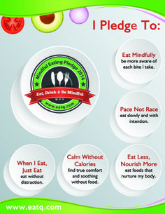 Take the 2014 Mindful Eating Pledge!  Ditch dieting this year. Just do these 5 things.  Pass it on!  Sign up on www.eatq.com