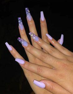15 Color Changing Nail Inspirations Cool Nail Art Designs 2020 Her Style Cod. - 15 Color Changing Nail Inspirations Cool Nail Art Designs 2020 Her Style Code - Blue Acrylic Nails, Summer Acrylic Nails, Nails After Acrylics, Coffin Acrylics, Nagel Bling, Color Changing Nails, Lavender Nails, Glamour Nails, Fire Nails