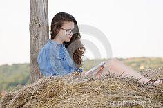 Student girl - girl model in nature