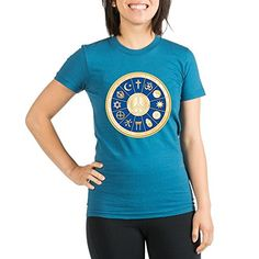 Royal Lion Org Womens Fitted TShirt Dk International Peace Symbol Religions  Galaxy Large * Read more reviews of the product by visiting the link on the image.