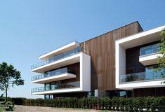 Schellen Architecten Concrete Architecture, Residential Architecture, Modern Architecture, Modern Contemporary Homes, Architectural Section, Unique Buildings, Balcony Design, Commercial Architecture, Facade Design