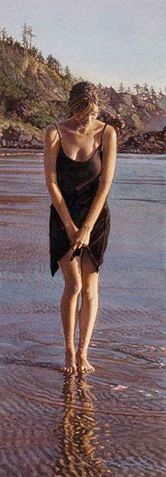 Steve Hanks -Gentle Tide - This is an amazing watercolor - looks like a photo.