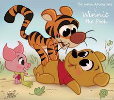 Walt Disney Characters Fan Art: Winnie the Pooh and Co. CHIBI