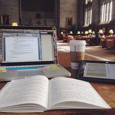 "studyingclique: "" studybuddyx: "" Studying in the library  "" """