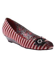 Take a look at this Red Anchors Aweigh Open-Toe Shoe by Poetic Licence on #zulily today! Gotta have these. I live at the beach.