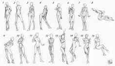 various woman poses
