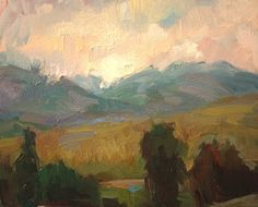 "$265 / 10x12 / ""Storm over Methow"" / Kathryn Townsend"