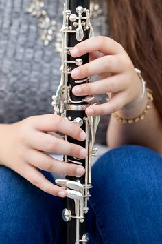 clarinet player marching band senior casual portrait (Uninvented Colors Photography)