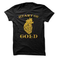 (Deal Tshirt 2 hour) Heart of Gold [Tshirt Facebook] Hoodies, Funny Tee Shirts