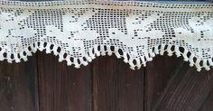Victorian Home Decor Bird Lace Beige French Cotton Hand Crochet Small Café Curtain Shelf Edging Lace #sophieladydeparis