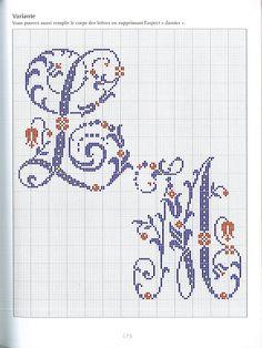 Gallery.ru / Фото #106 - belles lettres au point de croix - moimeme1