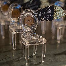 Miniature Clear Acrylic Phantom Chairs | Bridal Everything