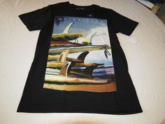 Men's Quiksilver S T shirt NWT surf skate M TEE Fins First MT4 KVJ0 Modern Fit #Quiksilver #BasicTee