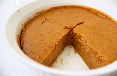 No-Crust Pumpkin Pie - You could eat the entire pie and would only be consuming as many calories as your favorite fast-food mocha frappe drink. A guilt-free treat that is actually good for you! ;)