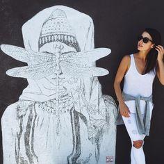 Made my a local #Armenian artist- Venice, CA. Super beautiful. Had to take a picture by it. : @arinekaprel #VSCOcam #streetart #California [#armenia #losangeles #esc2015 #eurovisionsongcontest #teamkaprelian] #VSCOcam #abbotkinney #OOTD
