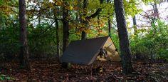 Sleeping under a tarp @ Bosmann Bakker training