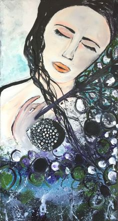 """Buy Beautiful Dream - Original Acrylic Painting on Canvas - Ready to Hang - Wall Art - Fine Art - UK Art - Affordable Art - Home Decor - 38x20 cm - 15""""x8"""", Acrylic painting by Kumi Rajagopal on Artfinder. Discover thousands of other original paintings, prints, sculptures and photography from independent artists."""