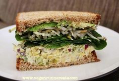 Chickpea salad sandwiches. Try with nori between the bread and salad to keep bread from going soggy.