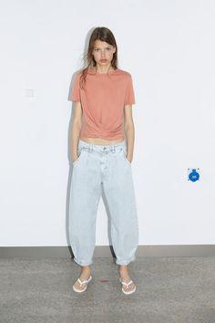 Women's Basic Clothing | New Collection Online | ZARA United Kingdom Colored Blazer, Colored Jeans, Suede Blazer, Zara, Tracksuit Jacket, Linen Tshirts, Basic Shorts, Striped Jacket, Colors