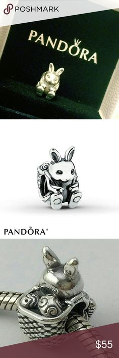 Pandora Easter Bunny Charm (Retired) Authentic. Brand new in box. Retired rare piece. Sterling silver 925 charm. Selling the charm only, bracelet and bangle sold separately. No lowest/pp/trade. Final sale. Pandora Jewelry