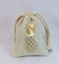 GOLD or SILVER PINEAPPLE draw string bags- wedding favor bags - small, medium and large party bags - by MyPillowShoppe on Etsy https://www.etsy.com/listing/267727339/gold-or-silver-pineapple-draw-string