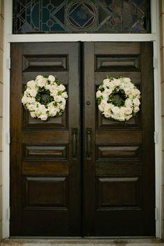 church door wreaths   Spindle Photography