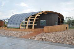 Het Halo-paviljoen inzending van de Zweedse universiteit Chalmers voor de Solar Decathlon 2013 in het Chinese Datong.