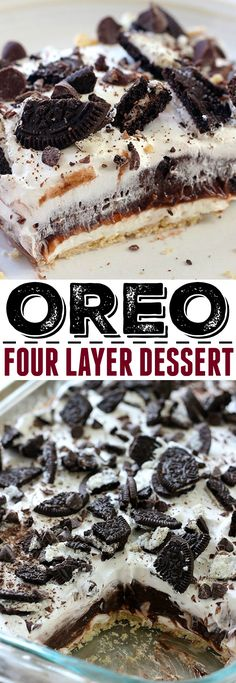Superb This Oreo Four Layer Dessert is one of our favorites! No one is able to resist it. The post This Oreo Four Layer Dessert is one of our favorites! No one is able to resist it…. appeared first on 2019 Recipes . Layered Desserts, Mini Desserts, No Bake Desserts, Easy Desserts, Oreo Desserts, Desserts For Picnics, Baking Desserts, Plated Desserts, Dessert Simple