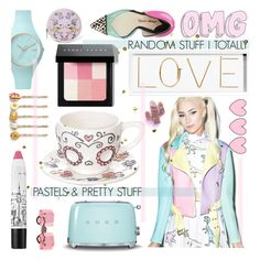 """random pastels that I love right now!"" by cutandpaste ❤ liked on Polyvore featuring Imm Living, Oliver Gal Artist Co., Sophia Webster, too cool for school, Louis Vuitton, Venessa Arizaga, Bobbi Brown Cosmetics, Ice-Watch, Sugarpills and Smeg"