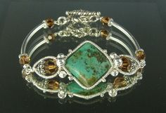Turquoise Coiled Bracelet [#306] - $125.00 : LB Jewelry Designs, Uniquely Beautiful Handcrafted Jewelry