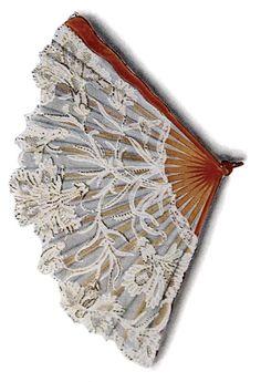 french lace fan