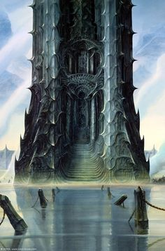 Orthanc - by John Howe