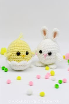 Chirp chirp! Hop hop! Make these adorable little hatchling and bunny for this coming Easter. They are super cute and very easy to make. They can be made as a decorative piece or add them to an East…free pattern!