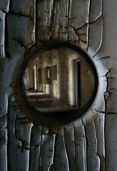 Scary asylum view
