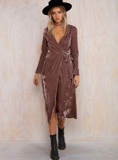 Lucille Velvet Wrap Dress