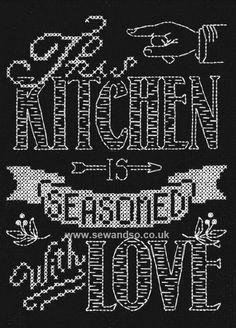 Buy This Kitchen Chalkboard Cross Stitch Kit Online at www.sewandso.co.uk