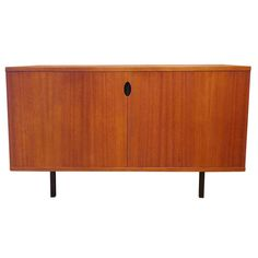 Teak Sideboard by Paul Geoffroy for Bobois - France - 1964 | From a unique collection of antique and modern sideboards at https://www.1stdibs.com/furniture/storage-case-pieces/sideboards/