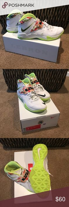 👉🏼Lebron James Nike Zoom soldier VII Lebron James Zoom soldier VII. Size 9.  White/black-volt. Great condition! With box. Worn a couple times. Nike Shoes Sneakers