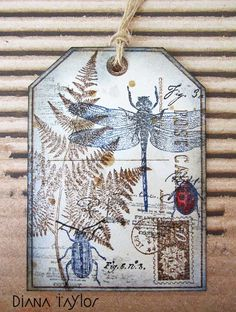 Nature tag by Velvet Moth Studio