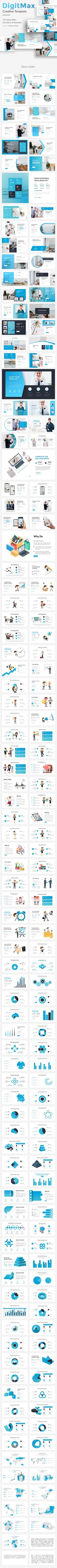 #DigitMax Creative Powerpoint Template - #Creative #PowerPoint #Templates