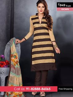 Skin Cofee New Chanderi Suit @ Rs 849/- Only  Shop Now :- http://www.enasasta.com/deal/skin-cofee-new-chanderi-suit OR Call/WhatsAp-8288886065  Product Info ESC34P6  Deal is Valid For Today Only  Fabric Top: Chanderi Cotton  Bottom: Cotton  Dupatta : Nazneen Print  Fabric Semi Stitched  Get 5 % Extra Discount for Advance Payment via PayUMoney  Cash On Delivery Available !! FREE Shipping All Over India!!