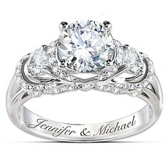 Ring: Once Upon A Romance Personalized Diamonesk Bridal Ring Jewelry