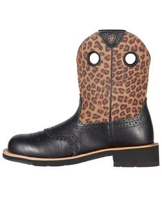 Ariat Fatbaby Leopard Print Cowgirl Boots - Round Toe | Cowgirl