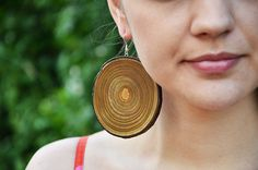 Wooden earrings - every day, simple and unique eco friendly accessory