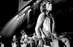 The Rolling Stones on stage at The Forum. Photographed by Jim Marshall. The Smashing Pumpkins, Concert Photography, Tumblr Photography, Video Photography, Tupac Shakur, Eddie Vedder, Janis Joplin, Def Leppard, Mick Jagger