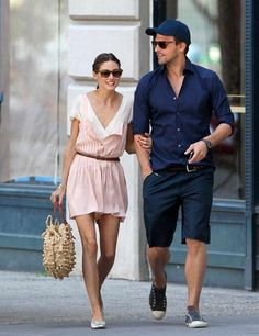 Olivia Palermo and Johannes Huebl are spotted in New York, June 2012.