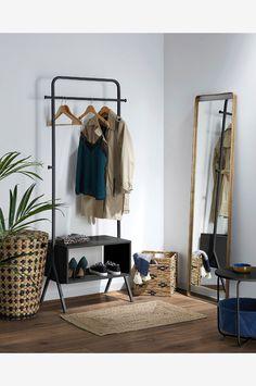 Kave Home BENTLY kleshenger - Svart - Klesoppbevaring - Ellos.no Denver, Wakayama, Plywood, Wardrobe Rack, Interior Design, Furniture, Home Decor, Ideas, Houses