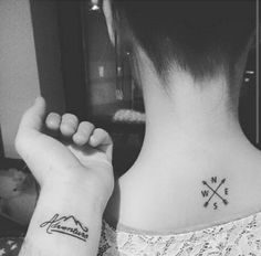 Adventure tattoo on the wrist and minimalistic...
