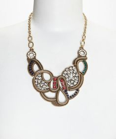 Look what I found on #zulily! Gold Slither Bib Necklace #zulilyfinds
